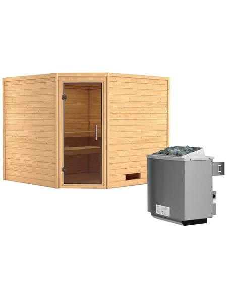 Sauna »Leona«, mit Ofen, integrierte Steuerung