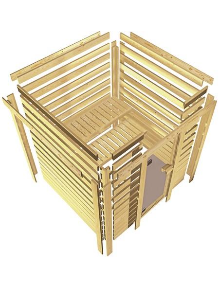Sauna »Prelly«, mit Ofen, integrierte Steuerung