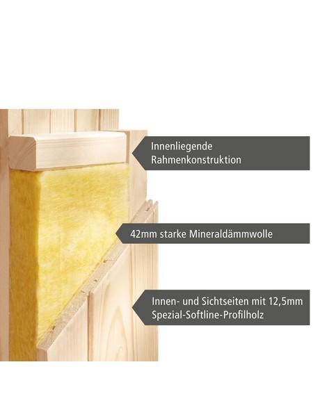 Sauna »Jöhvi«, mit Ofen, externe Steuerung