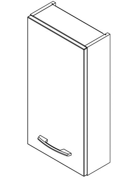 Badhängeschrank B x H x T: 35 x 68 x 22 cm