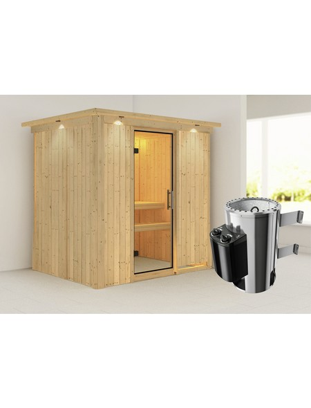Sauna »Kircholm«, mit Ofen, integrierte Steuerung