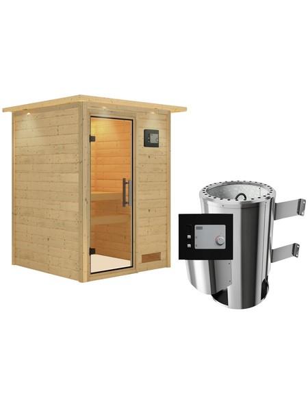 Sauna »Prelly«, mit Ofen, externe Steuerung