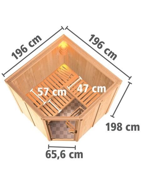 Sauna »Vöru«, mit Ofen, externe Steuerung
