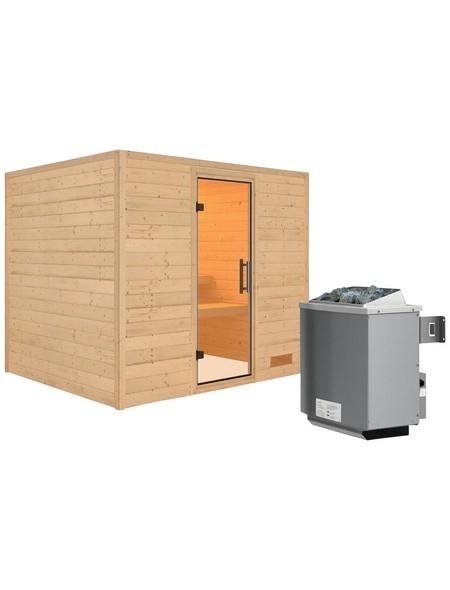 Sauna »Karla«, mit Ofen, integrierte Steuerung