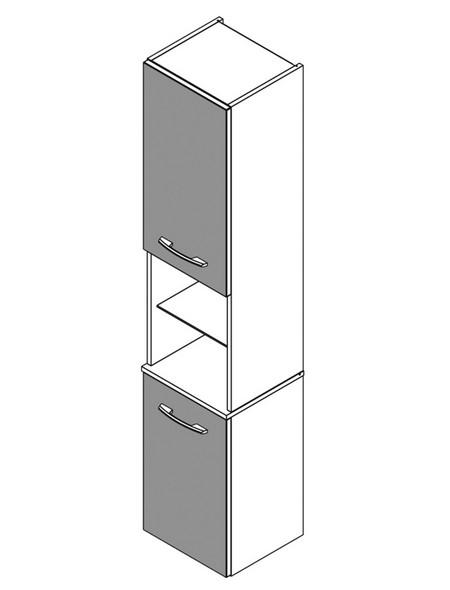Hochhängeschrank B x H x T: 35,5 x 169 x 32 cm