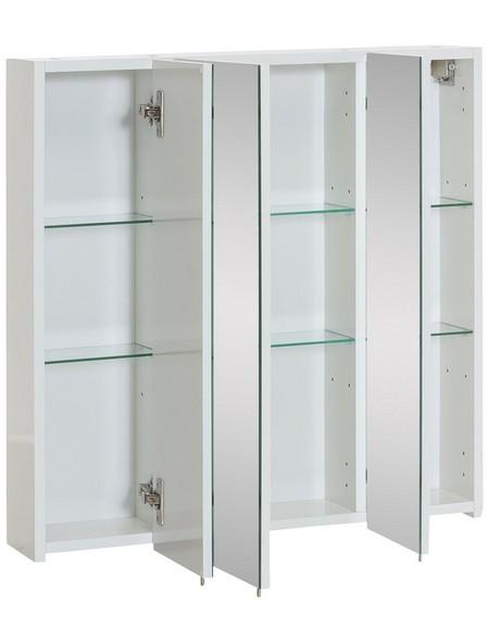 Spiegelschrank »Basic«, Weiß BxH: 70 cm x 71 cm