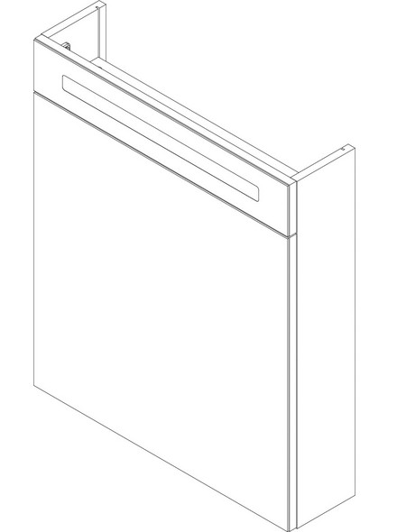 Spiegelschrank »B.clever«, Grau BxH: 60 cm x 71 cm
