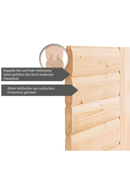 Sauna »Kärdla«, mit Ofen, integrierte Steuerung