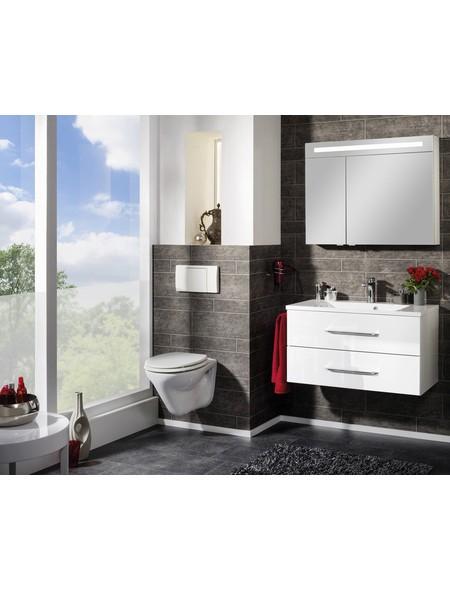 Spiegelschrank »B.clever«, Weiß BxH: 90 cm x 71 cm