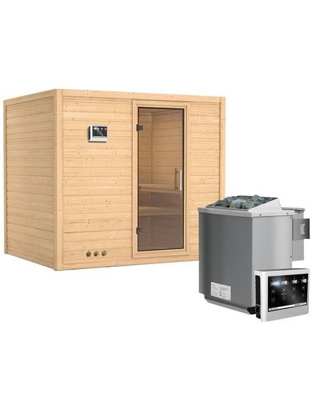 Sauna »Paldiski«, mit Ofen, externe Steuerung