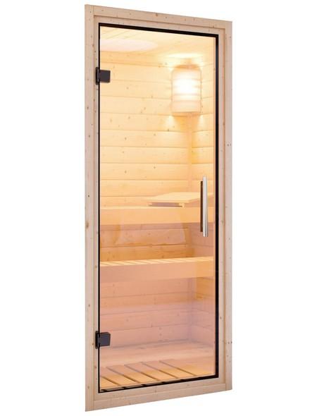 Sauna »Leona«, mit Ofen, externe Steuerung
