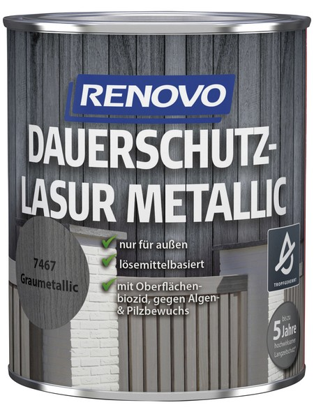 Holzschutz-Lasur Grau