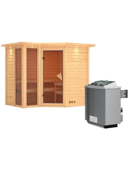 Sauna »Kunda«, mit Ofen, integrierte Steuerung