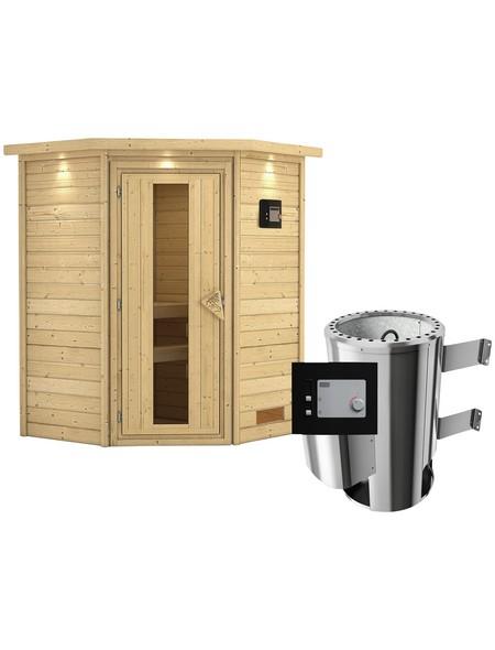 Sauna »Rujen«, mit Ofen, externe Steuerung