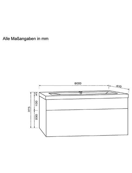 Waschplatz »Wangerooge«, B x H x T: x x