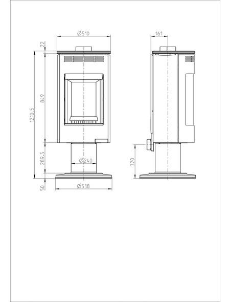 Kaminofen »Andorra Exclusive«, Stahl, 7,5 kW