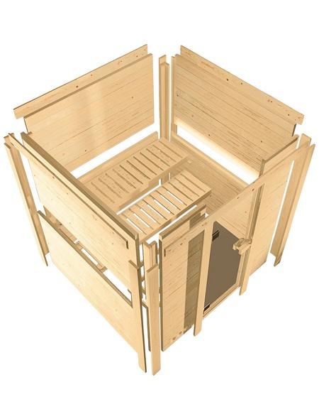 Sauna »Riga 1«, mit Ofen, externe Steuerung