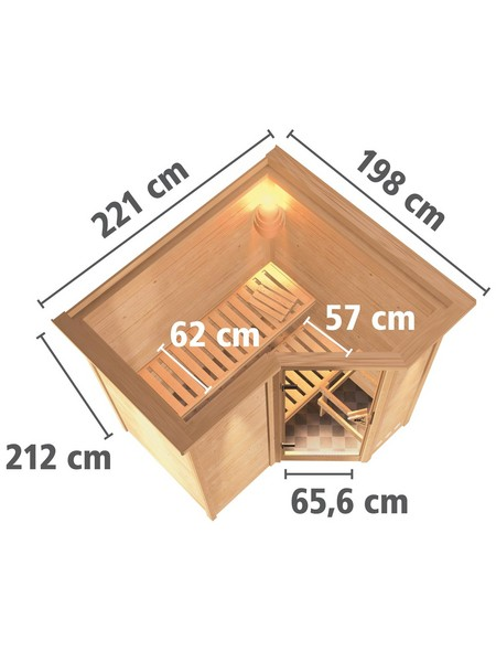 Sauna »Riga 1«, mit Ofen, integrierte Steuerung