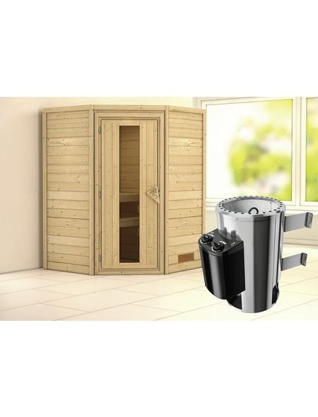 Sauna »Rujen«, mit Ofen, integrierte Steuerung