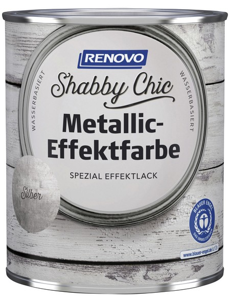 Effektlack »Shabby Chic«, Silber, seidenmatt