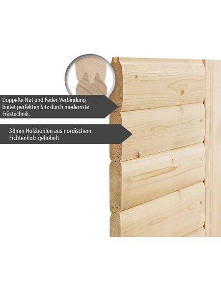 Saunahaus »Pirva «, B x T: 196 x 196 cm, mit Ofen, externe Steuerung